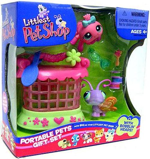 Littlest Pet Shop Portable Pets Butterfly & Spider Exclusive Figure 2-Pack