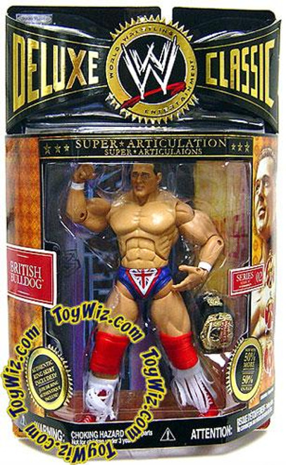 WWE Wrestling Deluxe Classic Superstars Series 2 British Bulldog Exclusive Action Figure