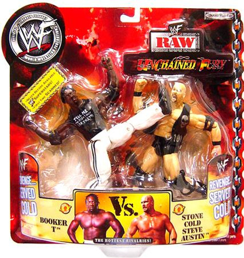 WWE Wrestling Unchained Fury Booker T Vs. Stone Cold Steve Austin Action Figure 2-Pack