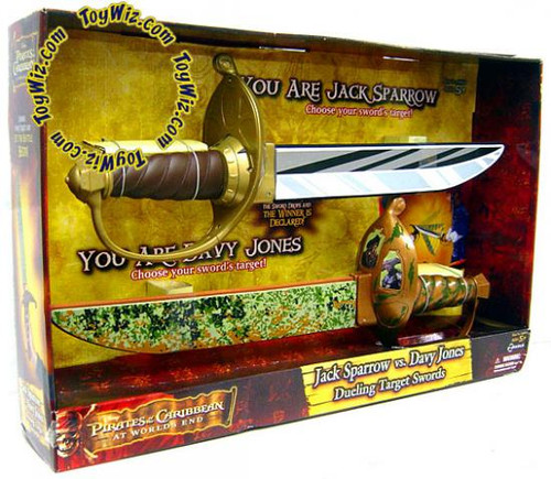 Pirates of the Caribbean At World's End Jack Sparrow vs. Davy Jones Dueling Target Swords Roleplay Toy