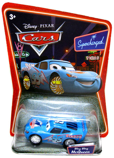 Disney Cars Supercharged Bling Bling Lightning McQueen Diecast Car