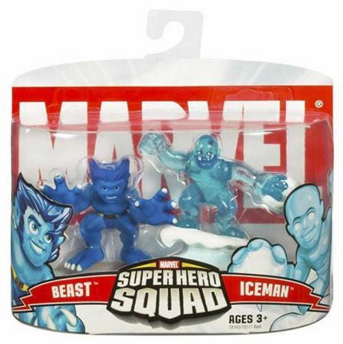 Marvel Super Hero Squad Series 4 Beast & Iceman Action Figure 2-Pack
