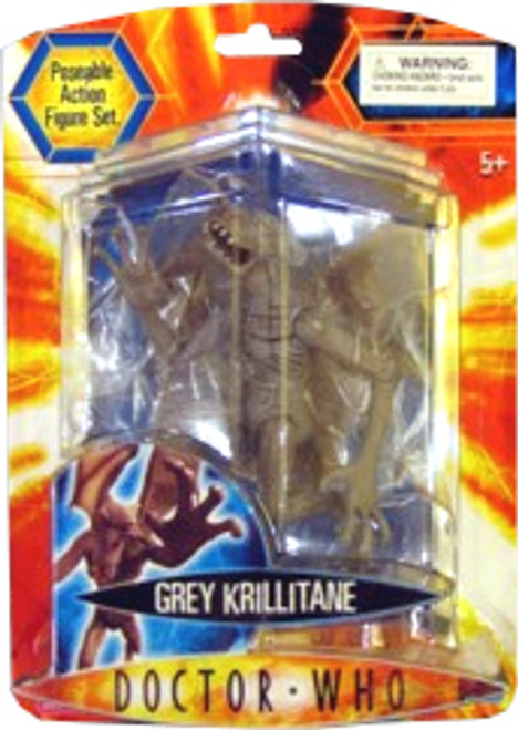 Doctor Who Underground Toys Series 2 Krillitane Action Figure [Gray]