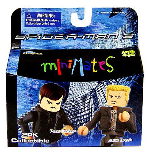 Spider-Man 3 Minimates Series 17 Peter Parker & Eddie Brock Minifigure 2-Pack