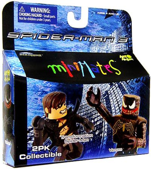 Spider-Man 3 Minimates Series 18 Transformation Spider-Man & Venom Minifigure 2-Pack