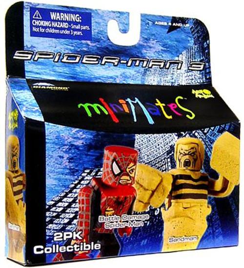 Spider-Man 3 Minimates Series 18 Battle Damage Spider-Man & Sandman Minifigure 2-Pack