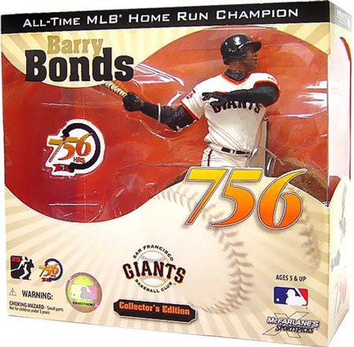 McFarlane Toys MLB San Francisco Giants Sports Picks Collector's Edition Barry Bonds Action Figure [756th Home Run]