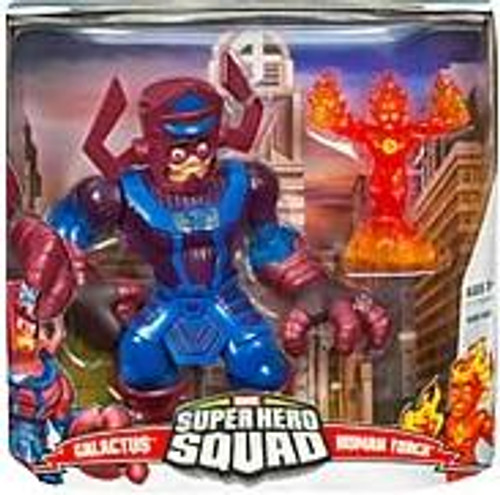 Marvel Super Hero Squad Series 1 Galactus & Human Torch Action Figure Set