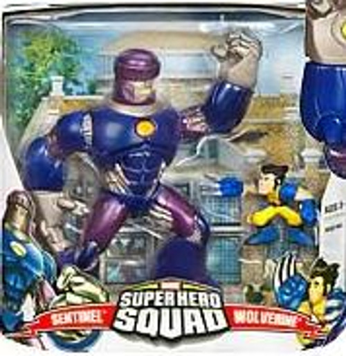 Marvel Super Hero Squad Series 1 Sentinel & Wolverine Action Figure Set