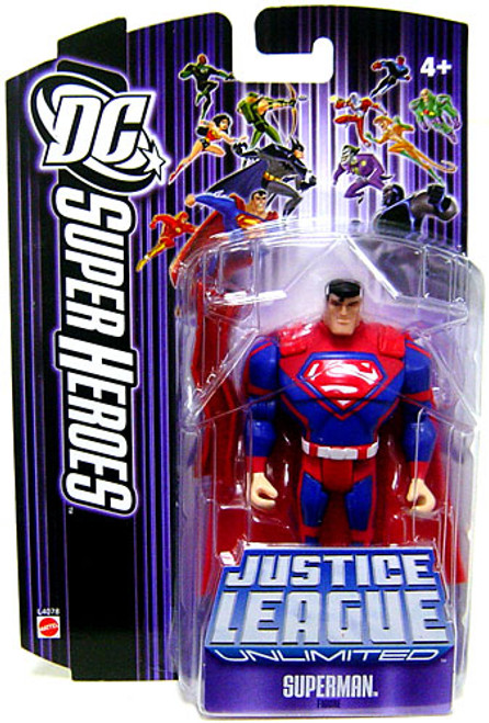 DC Justice League Unlimited Super Heroes Superman Action Figure [Red Steel Bar]
