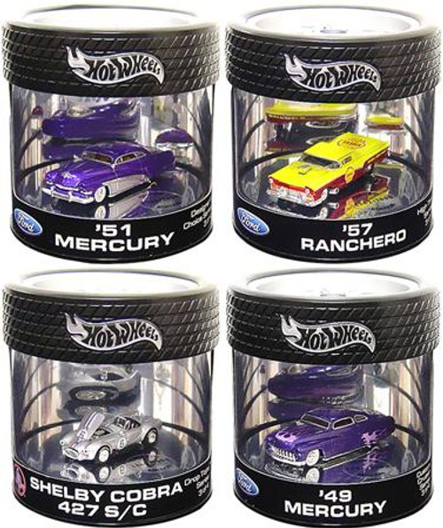 Hot Wheels Ford Custom Crusier Series Set of 4 Diecast Vehicles