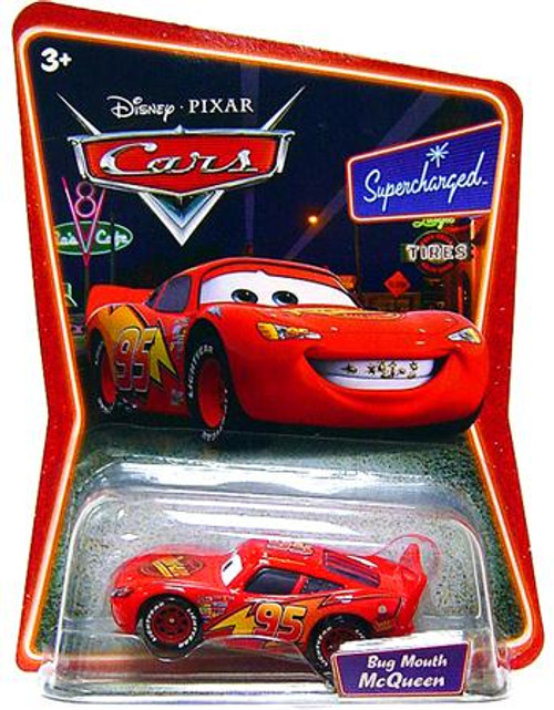 Disney Cars Supercharged Bug Mouth Lightning McQueen Diecast Car