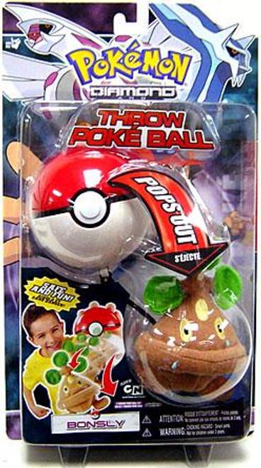 Pokemon Diamond & Pearl DP Series 2 Bonsly Throw Poke Ball Plush