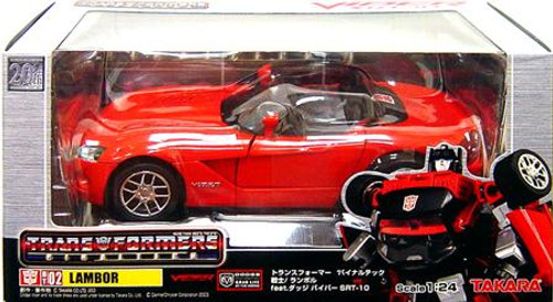 Transformers Japanese Binaltech Dodge Viper Lambor Action Figure BT-02