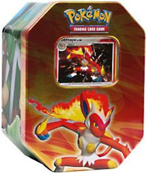 Pokemon Diamond & Pearl 2007 Holiday Infernape Collector Tin