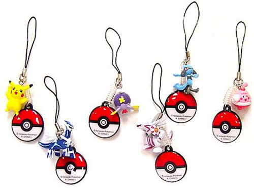 Pokemon Diamond & Pearl Screen Cleaners Set of 6 Handheld DS Screen-Cleaners PVC Figures