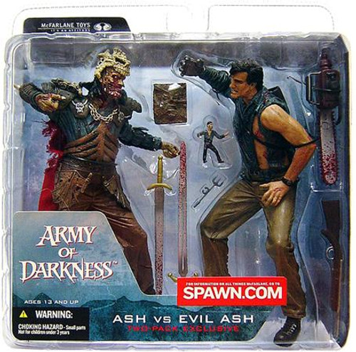 McFarlane Toys Evil Dead Army of Darkness Exclusives Ash vs. Evil Ash Exclusive Action Figure 2-Pack