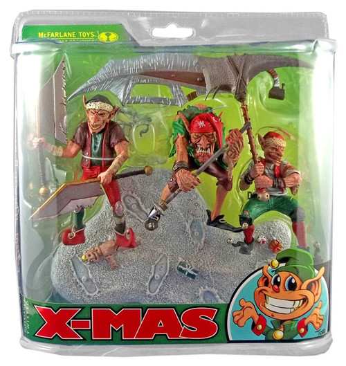 McFarlane Toys McFarlane's Monsters X-Mas Santa's Little Helpers Action Figure Set