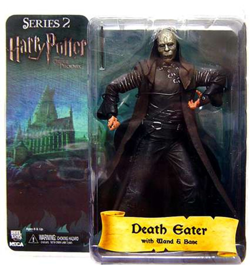 NECA Harry Potter The Order of the Phoenix Series 2 Death Eater Action Figure [Silver Mask]