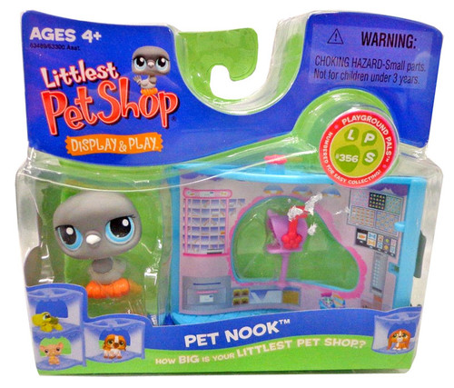 Littlest Pet Shop Pet Nook Series 2 Dove Figure [Gray with Post Office]
