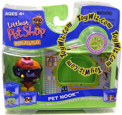 Littlest Pet Shop Pet Nook Series 2 Owl Figure [Wise with Glasses in Library]