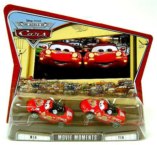Disney Cars The World of Cars Movie Moments Mia & Tia Diecast Car 2-Pack