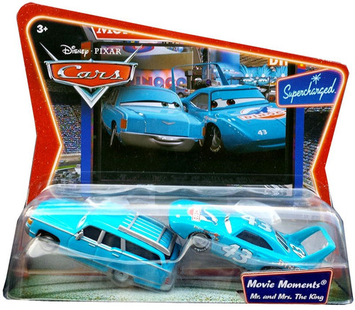 Disney Cars Supercharged Movie Moments Mr. & Mrs. The King Diecast Car 2-Pack