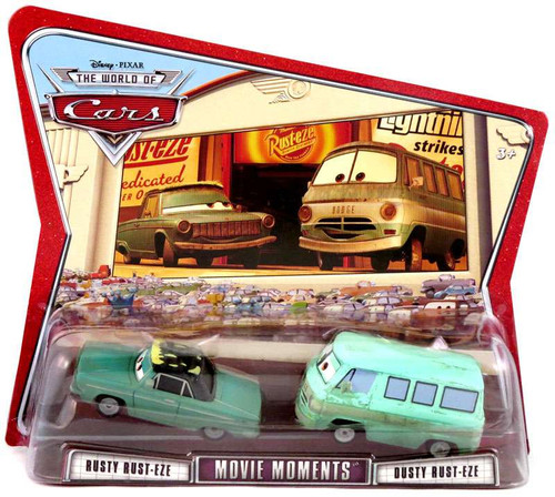 Disney Cars The World of Cars Movie Moments Rusty & Dusty Rust-eze Diecast Car 2-Pack