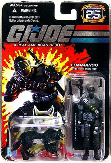 GI Joe 25th Anniversary Wave 1 Snake Eyes Action Figure [Black Timber]