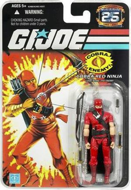 GI Joe 25th Anniversary Wave 3 Cobra Red Ninja Action Figure