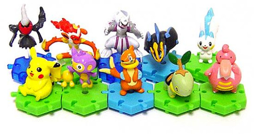 Pokemon Japanese Connecting Figures Series 2 Set of 10 Connecting PVC Figures
