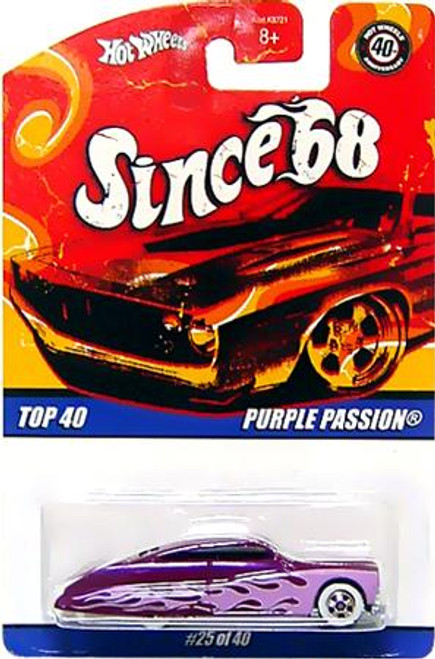 Hot Wheels Since '68 Top 40 Purple Passion Diecast Vehicle #25