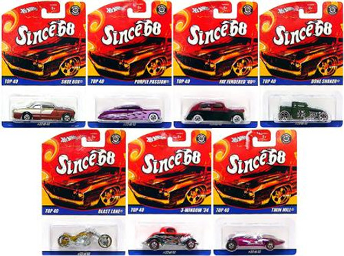 Hot Wheels Since '68 Top 40 Set of 7 DIecast Vehicles