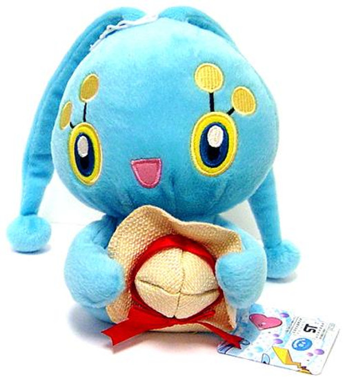 Pokemon Diamond & Pearl 5 Inch Manaphy Plush [Straw Hat]