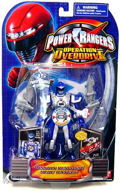 Power Rangers Operation Overdrive Mission Response Blue Ranger Action Figure