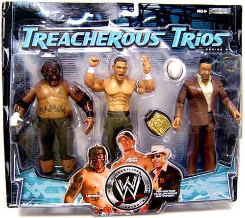 WWE Wrestling Treacherous Trios Series 6 Umaga, Armando Alejandro Estrada & John Cena Exclusive Action Figure 3-Pack
