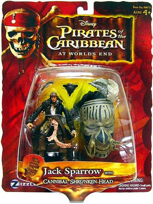Pirates of the Caribbean At World's End Captain Jack Sparrow Exclusive Action Figure [Cannibal Shrunken Head]