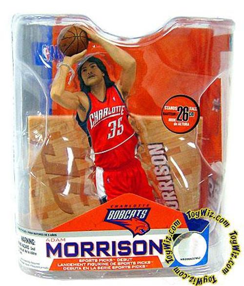 McFarlane Toys NBA Charlotte Bobcats Sports Picks Series 14 Adam Morrison Action Figure [Orange Jersey]