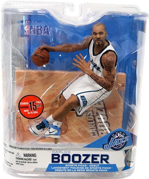 McFarlane Toys NBA Utah Jazz Sports Picks Series 14 Carlos Boozer Action Figure [White Jersey]