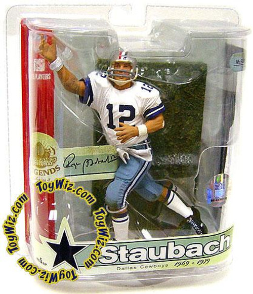 McFarlane Toys NFL Dallas Cowboys Sports Picks Legends Series 3 Roger Staubach Action Figure [Red, White & Blue Striped Helmet]