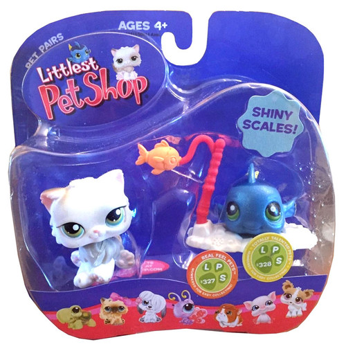 Littlest Pet Shop Pet Pairs Cat & Fishy Figure 2-Pack [Shiny Scales]