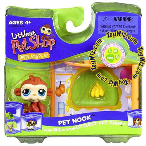 Littlest Pet Shop Pet Nook Series 1 Monkey Figure