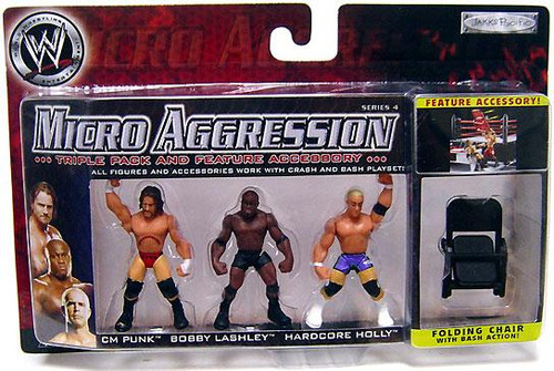 WWE Wrestling Micro Aggression Series 4 Mini Figure 3-Pack
