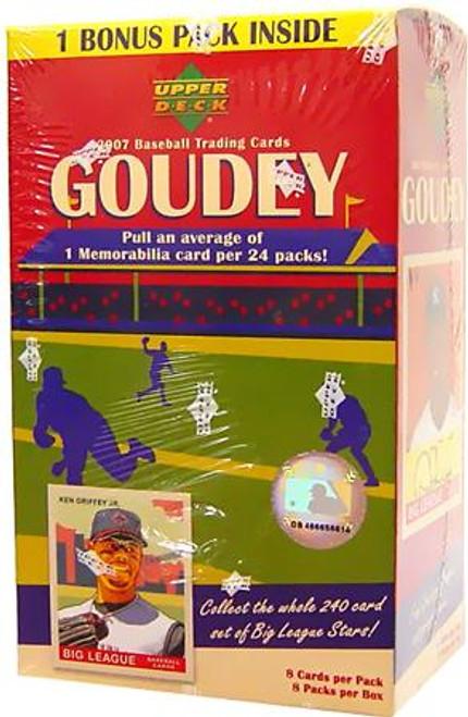 MLB 2007 Goudey Baseball Cards 2007 Upper Deck Baseball Cards Trading Card Box [Factory Sealed]