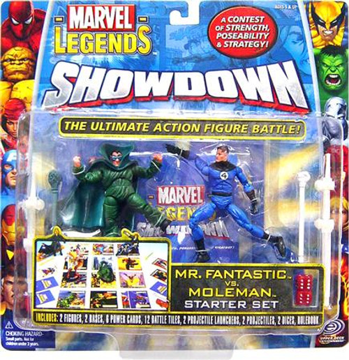 Marvel Legends Superhero Showdown Starter Set with Moleman & Mr. Fantastic Action Figures