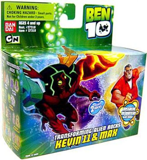 Ben 10 Transforming Alien Rocks Kevin 11 & Max 1-Inch Mini Figure Set