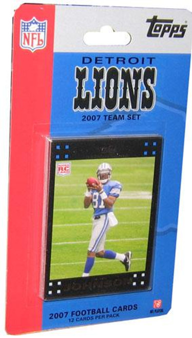 NFL 2007 Topps Football Cards Detroit Lions Team Set
