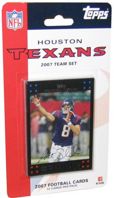 NFL 2007 Topps Football Cards Houston Texans Team Set