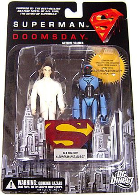 DC Superman Doomsday Lex Luthor & Superman's Robot Action Figure 2-Pack
