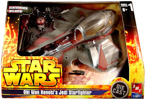 Star Wars Model Kits Obi Wan Kenobi's Jedi Starfighter Diecast Model Kit